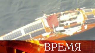Российский путешественник Федор Конюхов завершает свой одиночный переход на весельной лодке.