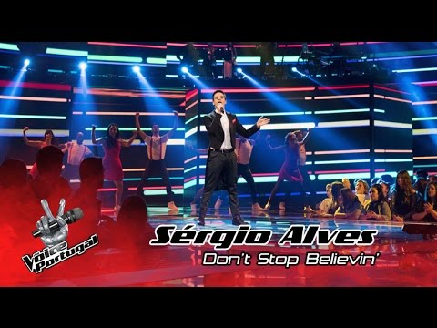 Sérgio Alves - Don't Stop Believin' (Journey) | Gala | The Voice Portugal