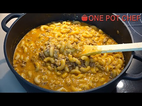 One Pot Cheesy Beef Taco Pasta | One Pot Chef