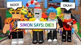 SIMON SAYS IN ROBLOX MURDER MYSTERY 2!!