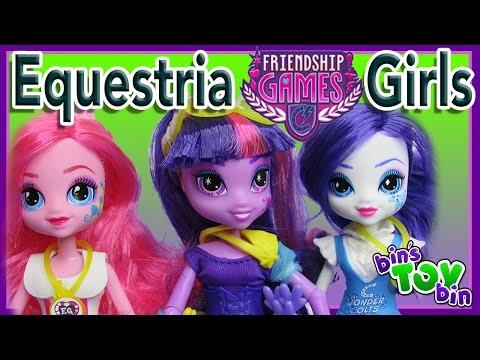 Equestria Girls Friendship Games Twilight Sparkle, Pinkie & Rarity Dolls! Review by Bin's Toy Bin