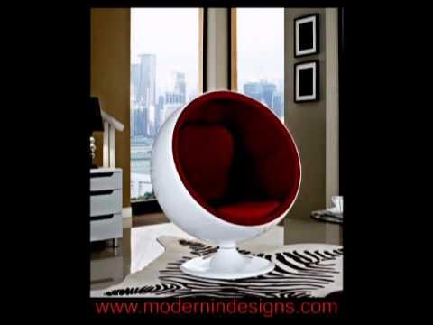 Ball Chair - Eero Aarnio Style Ball Chair Replica Reproduction - YouTube