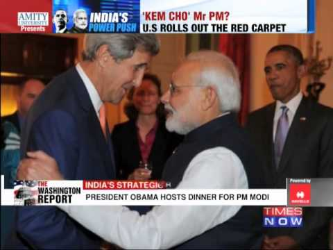 US President Barack Obama welcomes Narendra Modi to White House