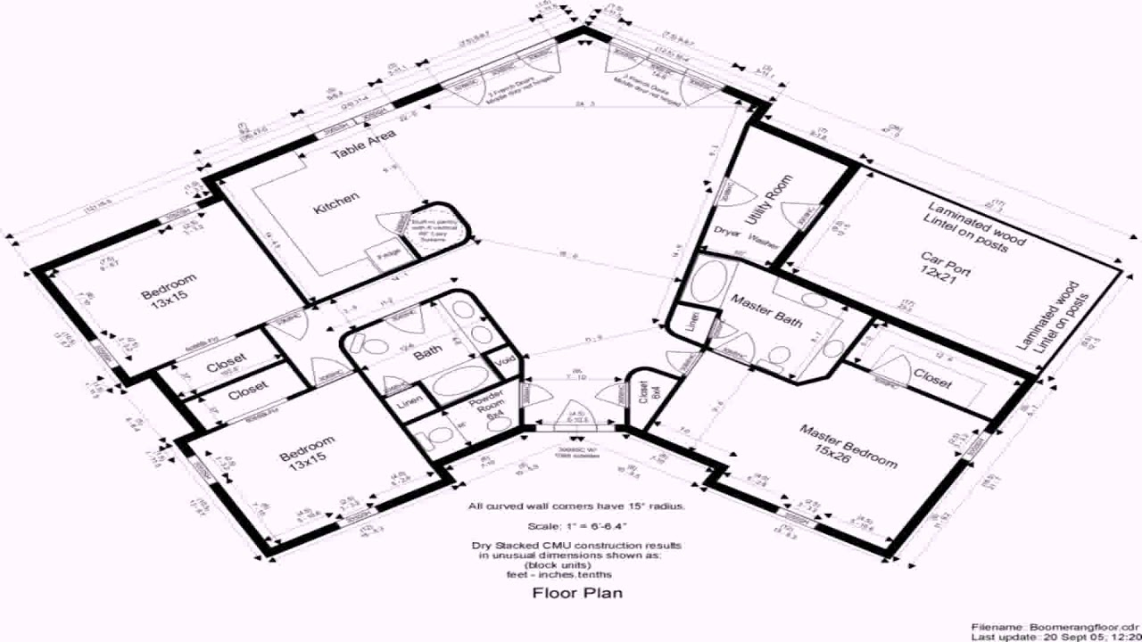 Simple House Floor Plans With Dimensions - YouTube