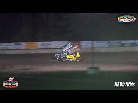 Highlights: Sprint Cars of New England at Bear Ridge Speedway 9 3 2016