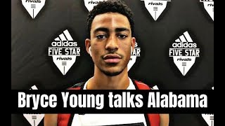 USC quarterback commit Bryce Young says Alabama Football is still recruiting him