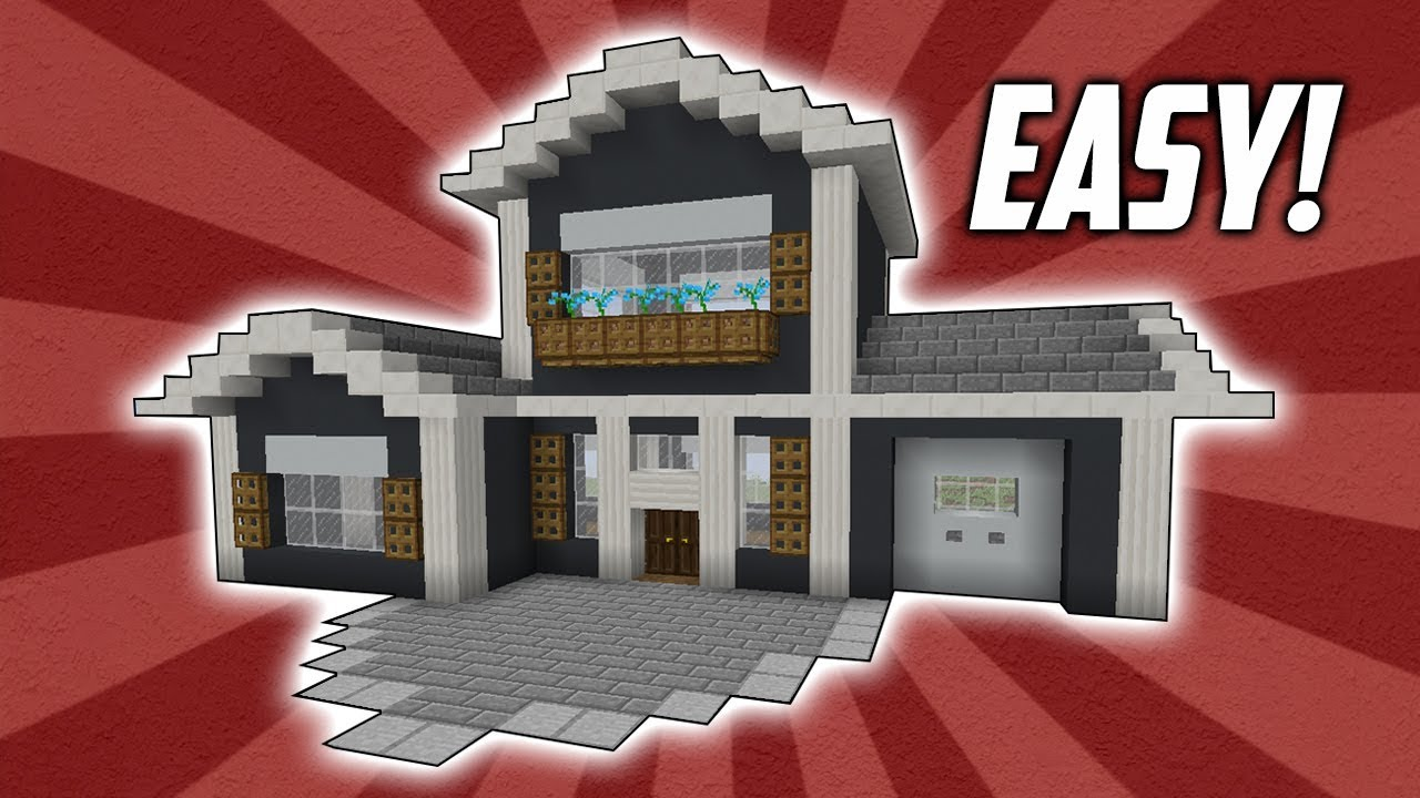Minecraft How To Build An Easy Suburban House Tutorial 3 Youtube