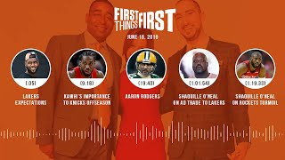 First Things First audio podcast (6.18.19)Cris Carter, Nick Wright, Jenna Wolfe | FIRST THINGS FIRST