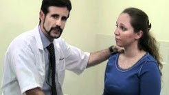 Largo FL Chiropractor demonstrates Throat exam