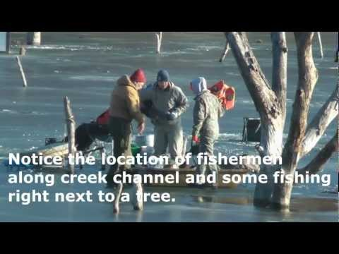 Iowa Ice Fishing Video at Brushy Creek Lake by WillCFish shows ice conditions and more.