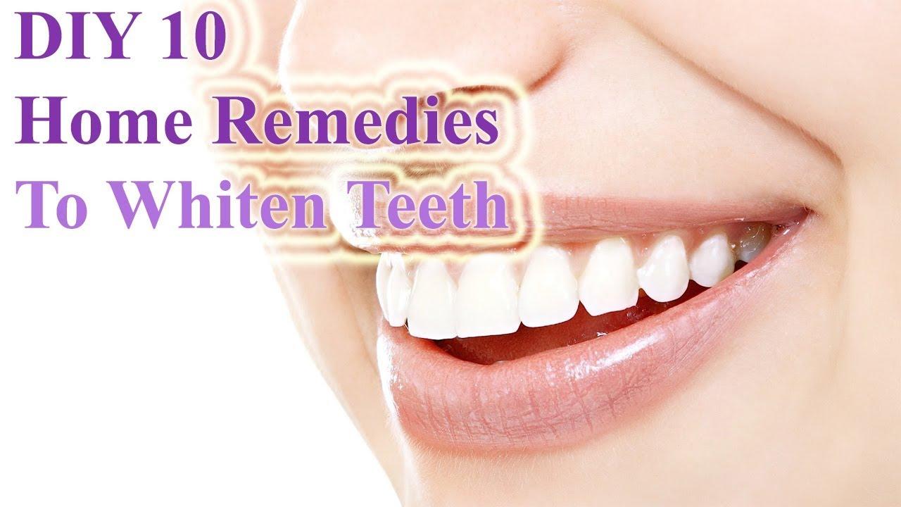 Diy 10 Home Remedies To Whiten Teeth Top Home Remedies To Whiten
