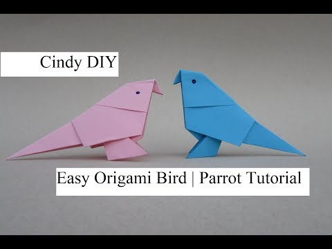 Origami parrot easy & simple for kids tutorial Craft   How to   CIndy DIY