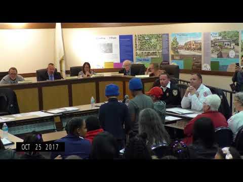 Village of Midlothian, Board Meeting, 10-25-2017