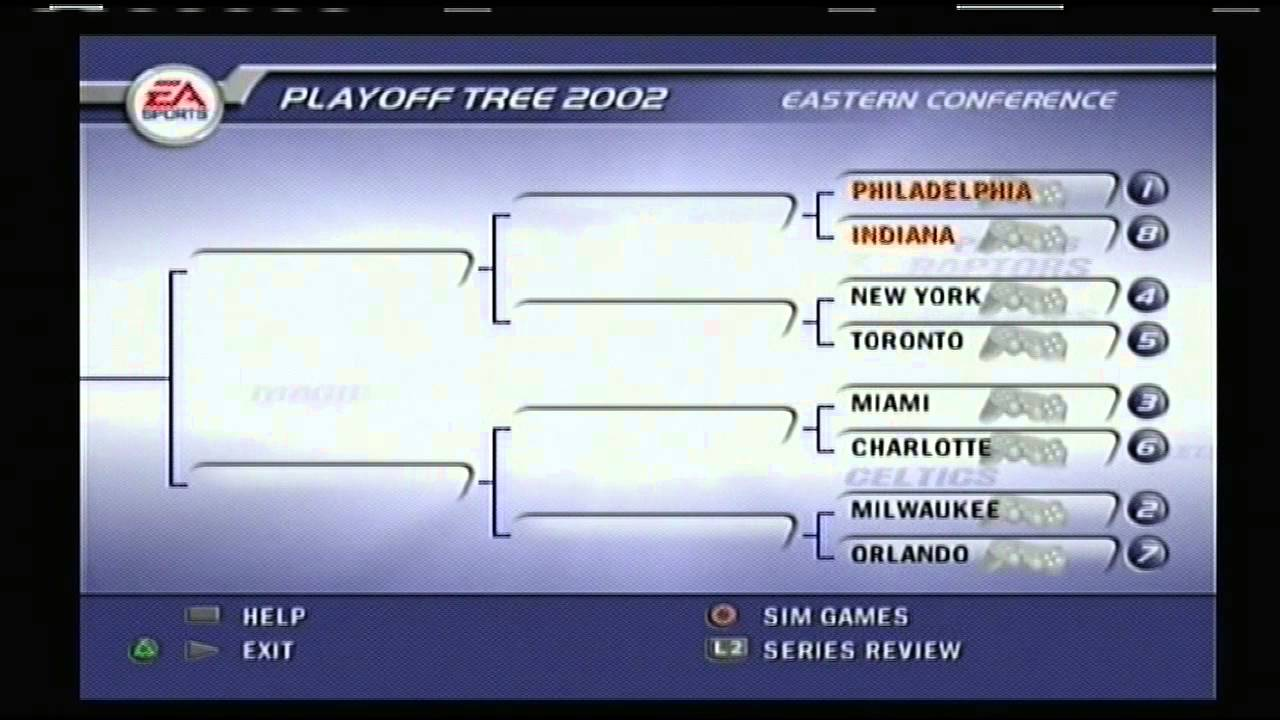 Nba Live 02 2001 Nba Playoff Brackets Youtube