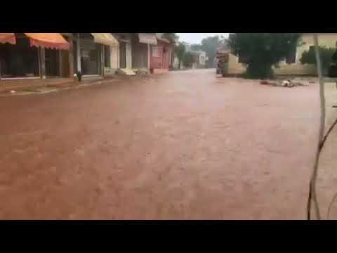 Κατακλυσμός τώρα στη Μάνδρα -Εκλεισε η Εθνική οδός και τα διόδια Ελευσίνας