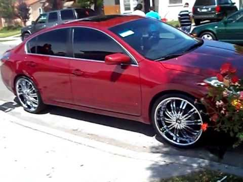 2010 Nissan Altima On 22 S Pt 2 By Hulk Kustoms Youtube