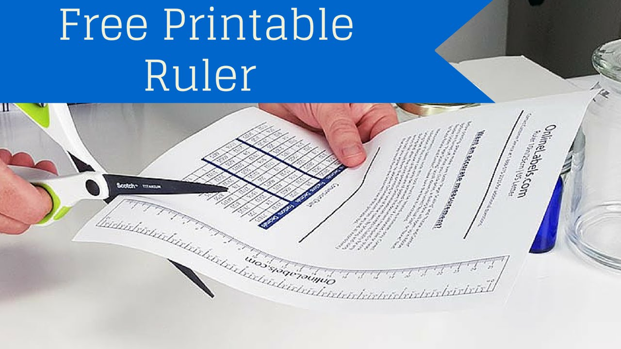 picture relating to Free Printable Ruler referred to as Totally free Printable Ruler - How Towards Evaluate Jar, Bottles and Even more!