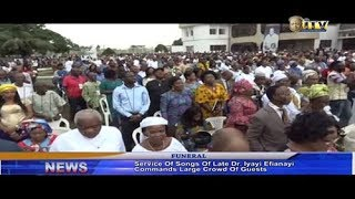 Service of Songs of Late Dr. Iyayi Efianayi commands large crowd of Guests thumbnail