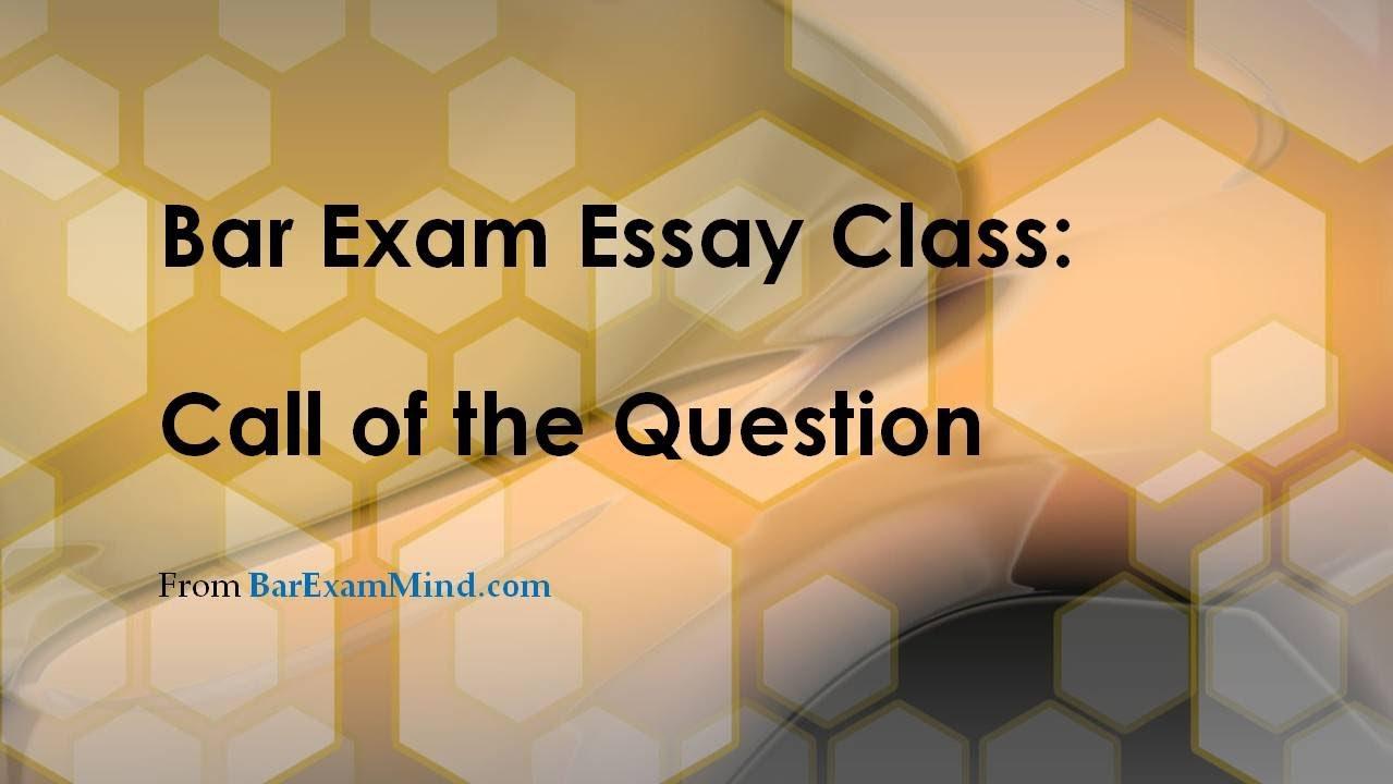 Bar exam essays