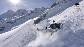 SWISS-FLY | Grimentz-Zinal | Préparation des pistes de ski dans le Val d'Anniviers en Suisse.