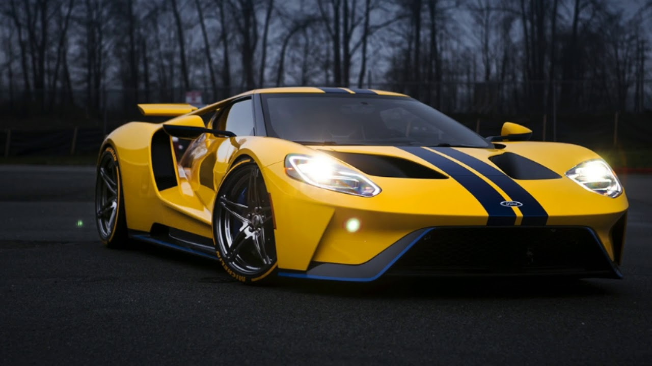 2018 Ford Gt Ford Gt On Custom Wheels Is Pure Wallpaper Material