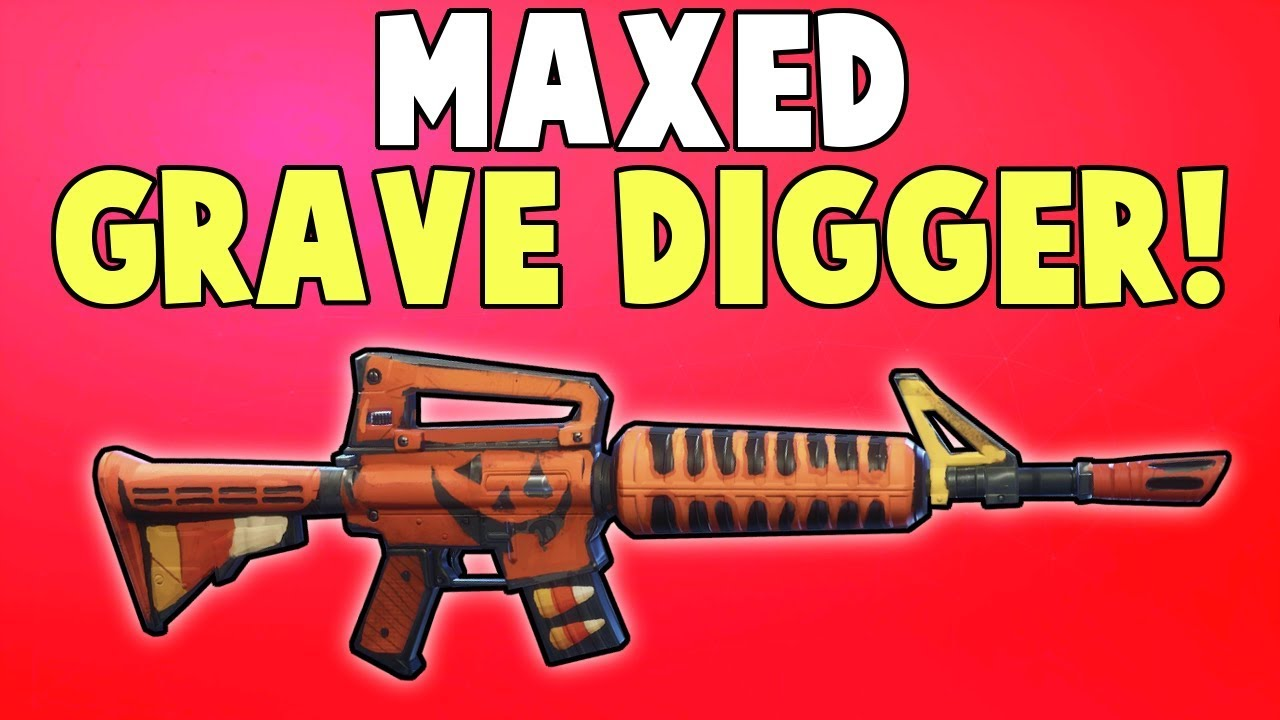 maxed grave digger weapon review fortnite save the world - grave digger fortnite best perks