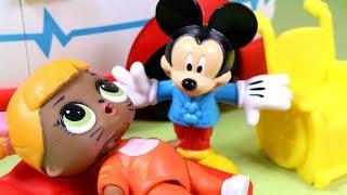 LOL Surprise • Zatrucie grzybami • Myszka Miki ratuje laleczki LOL • bajka po polsku