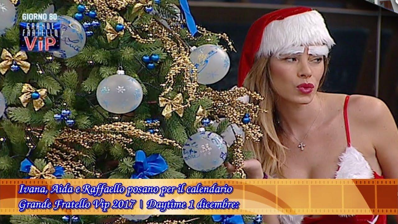 Calendario Grande Fratello.Ivana Aida E Raffaello Posano Per Il Calendario Grande