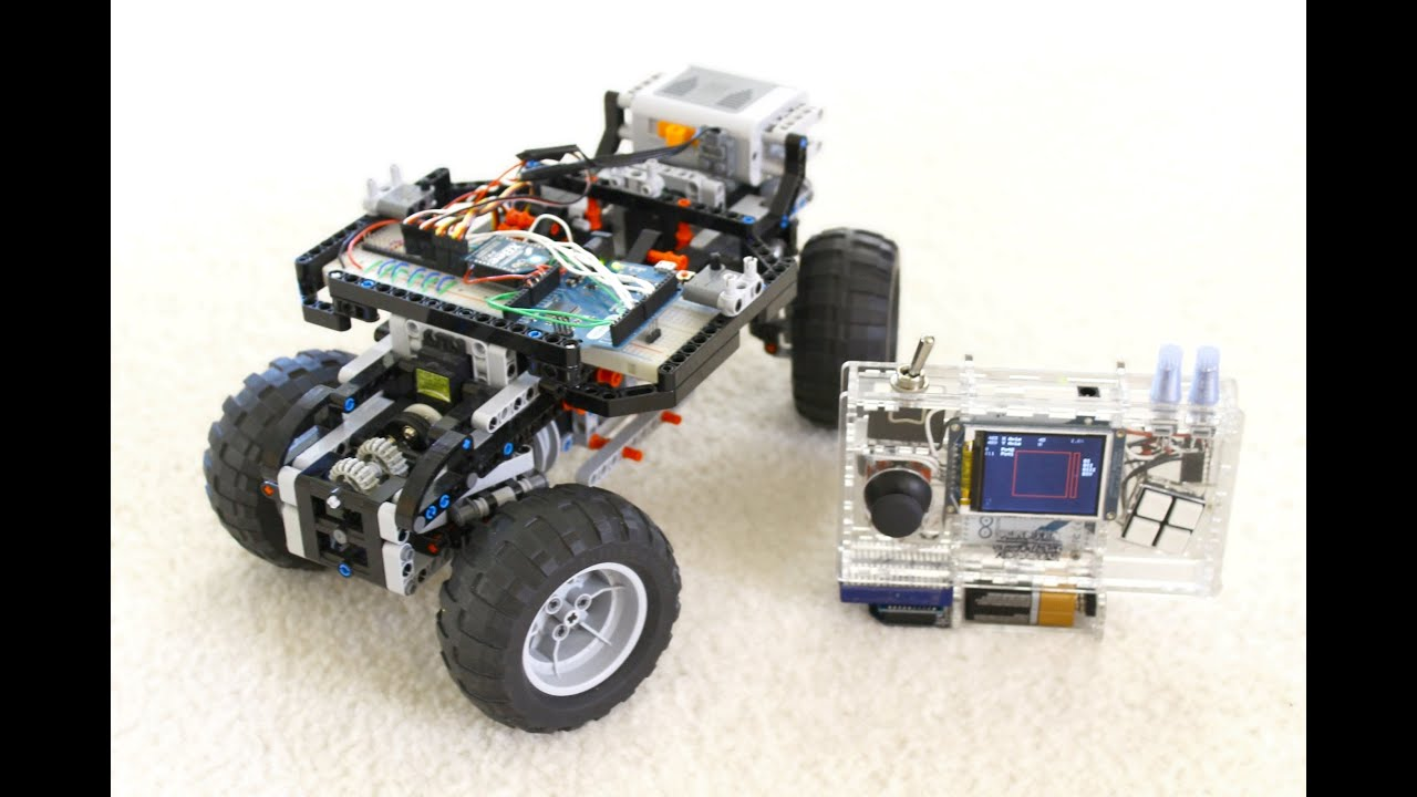 Diy rc handheld arduino servo powered lego doovi
