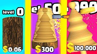 IS THIS THE MOST EXPENSIVE WOOD CARVER EVOLUTION? (9999+ SIMULATOR SCULPTURE LEVEL) l Woodturning