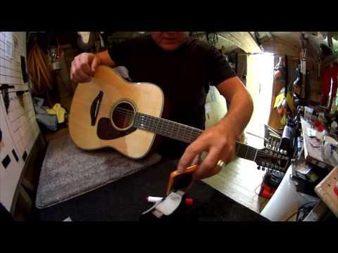 Yamaha FG820 12 string set up