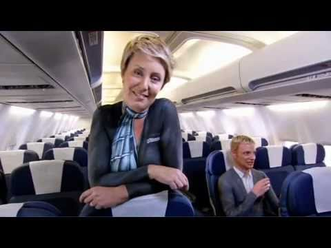 Air New Zealand body painted in-flight safety video