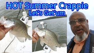 Summer Crappie Fishing - How To Catch Slow Biting Crappie