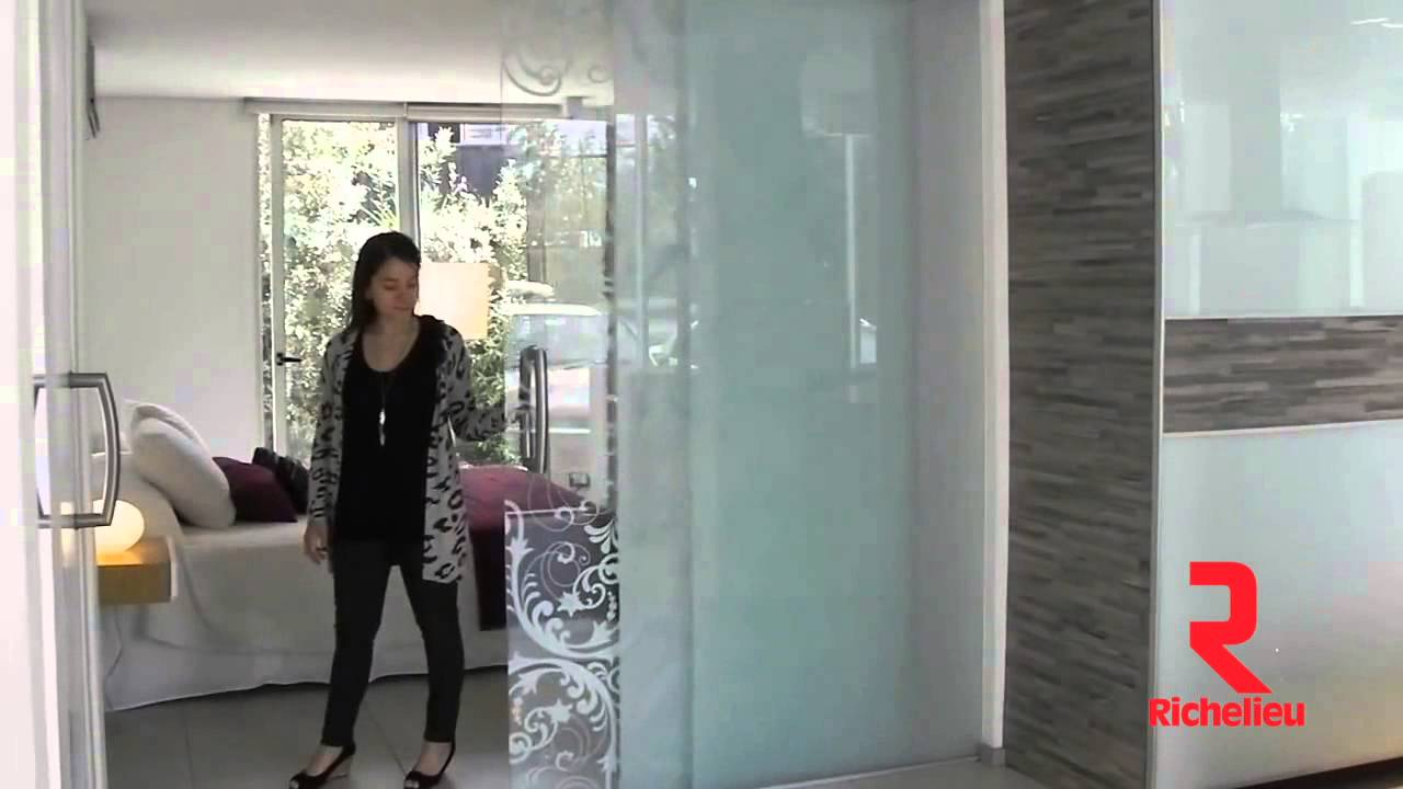 Richelieu Hardware - Ducasse Twin Telescopic Glass Sliding Doors ...