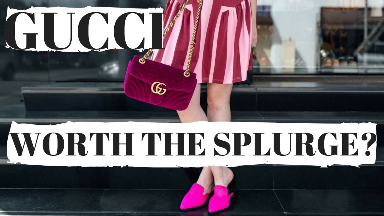 5a94a2a9c626 GUCCI MARMONT SMALL VELVET HANDBAG REVIEW 2018 - YouTube