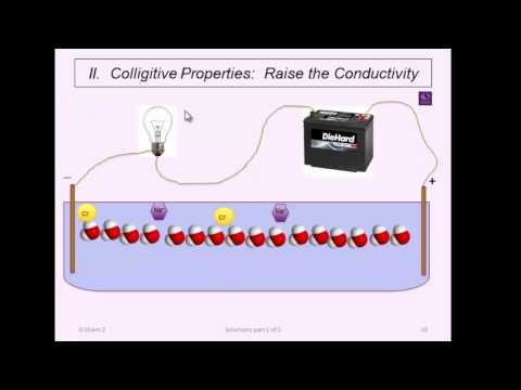 10.  Solutions and Colligative properties (1 of 3)