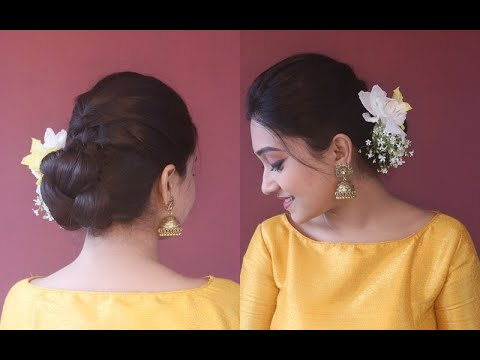 festive-hairstyle-for-all|easy-and-simple|asmita
