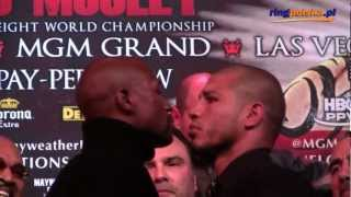Floyd Mayweather Jr - Miguel Cotto Staredown 2017 Video