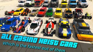 GTA V Which is fastest Casino Heist DLC Vehicle | It's not formula cars