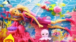 Ocean Treasure Explorer Doll Playset / Zestaw Barbie Pletwonurek - Zostań Kim Zechcesz - Mattel