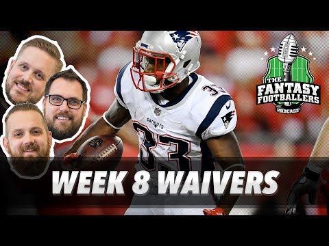 Fantasy Football 2017 - Week 8 Waivers & QB Streamers, Chocolate Grasshoppers - Ep. #464
