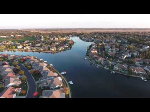 Lake Heron aerial view Laguna West. Elk Grove Dji phantom 4 drone