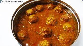 Fish Kola Urundai Kuzhambu Recipe in Tamil/Meen Kulambu Recipe/Kola Urundai Kuzhambu Recipe