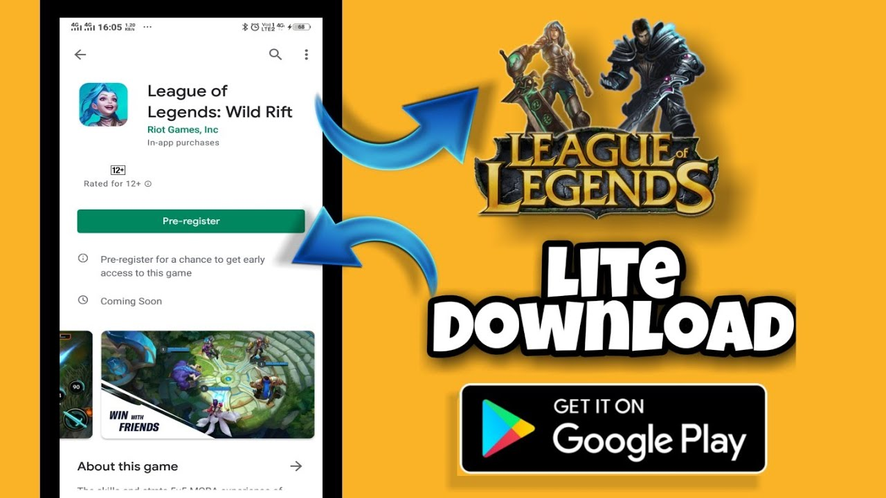 How to Download league of legends in mobile phone