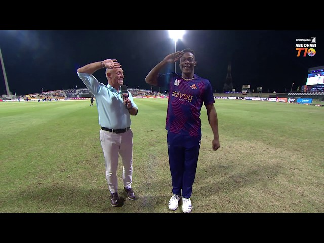 Player's Corner I Sheldon Cottrell l Deccan Gladiators I Aldar Properties Abu Dhabi T10