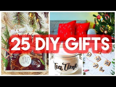 25 DIY Christmas Gift Ideas 2017! // Crafts, Presents, Homemade Gifts