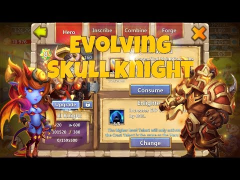 Castle Clash: Evolving Skull Knight At Level 200 | First 10/10 Hero
