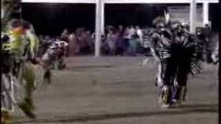 Native American Indian Pow wow - Men Chicken Dancing