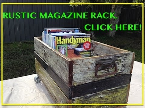 Awesome Rustic Magazine Rack. Another Cool Pallet Wood / Fence Paling ...