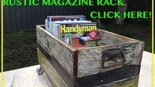 Awesome Rustic Magazine Rack. Another Cool Pallet Wood / Fence Paling Project